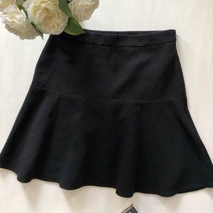 Black LOFT lined skirt , size 00